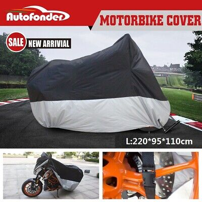 AU16.99 • Buy L Large Motorcycle Cover Waterproof Motorbike Cover Free Shipping