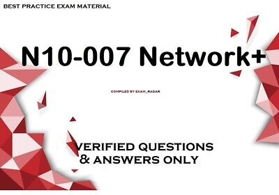 $4.75 • Buy N10-007 Network+  Verified Practice Exam Questions Answers & Simulator