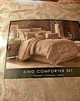 $ CDN361.58 • Buy J. Queen New York Sicily King 4-Piece Comforter Set  Sicily In  Pearl   Ret $575