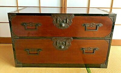 Antique Japanese Furniture Cabinet Clothes, Chest Of Drawers  ISHO TANSU  W/key • 860.25£