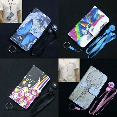 AU9.62 • Buy 1x Rainbow Cat Kiss Butterfly Girl Wallet Flip Case Cover For Iphone OPPO Lenovo
