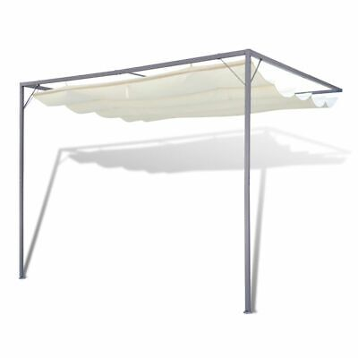 AU213.95 • Buy Patio Awning Steel Frame Retractable Roof Canopy Outdoor Wall Gazebo Shade 3x3m