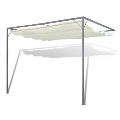 AU202.95 • Buy Patio Awning Steel Frame Retractable Roof Canopy Outdoor Wall Gazebo Shade 3x3m