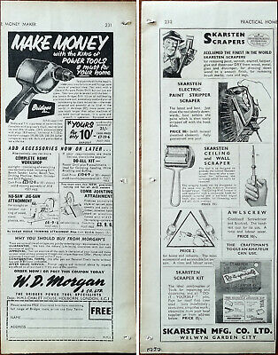 W. D. Morgan Make Money With The King Of Power Tools / Skarsten Scrapers Ad 1957 • 4.49£