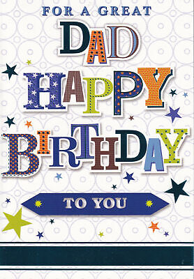 £1.89 • Buy For Dad Birthday Card Father