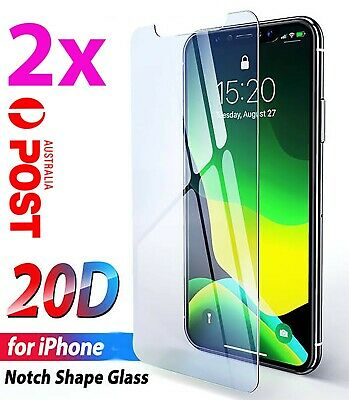AU3.65 • Buy 2xTempered Glass Screen Protector IPhone 12 11 Pro XS Max XR 8 7 6s 5s Plus 4 8j