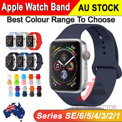 AU9.49 • Buy For Apple Watch IWatch Wrist Band 6 3 5 4 SE Silicone Sports Strap 38/40/42/44mm