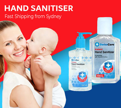 AU9.95 • Buy Hand Sanitiser Instant Gel Wash 62% Alcohol 99% Anti Bacterial