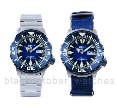 $ CDN228.68 • Buy Heimdallr Sharkey Ocean Monster PVD BLUE NH36 Day/Date Automatic 200m Dive Watch