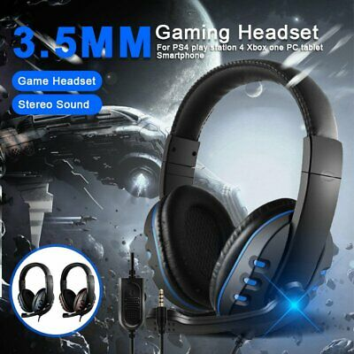 AU26.33 • Buy 3.5mm Wired Stereo Gaming Headset Headphone With Mic For PC Xbox One PS4