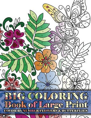 RELAXING Stress RELIEF Colouring Books Adult Therapy Mind Flowers Butterflies • 6.14£