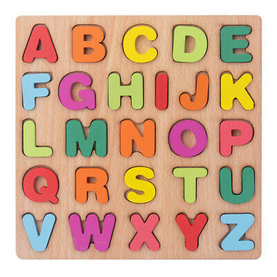 £6.49 • Buy Alphabet Puzzle Wooden Toy Kid Letter Matching Jigsaw Educational Board (2) UK