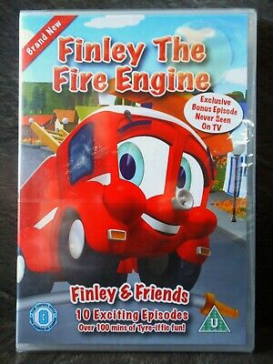 KIDS DVD Finley The Fire Engine DVD - 10 EPISODES - 1HR 54m - NEW/SEALED • 3.99£
