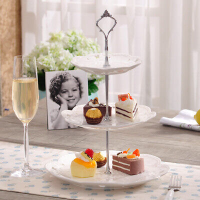 £4.29 • Buy Set Of 3 Tiers Cake Plate Stand Handle Fitting Party Crown Rod DIY UK