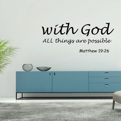 £3.02 • Buy Wall Decal Bible Verse Wall Decals Christian Quote Art Stickers Religious Decor