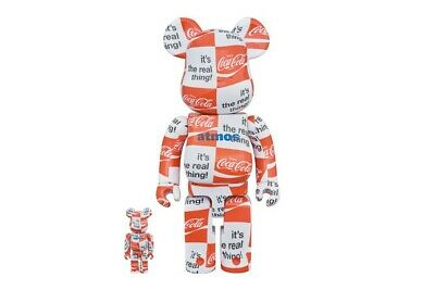 $279 • Buy Complexland Atmos X Coca Cola 100%/400% Bearbrick (White Red) 2020 NEW!!