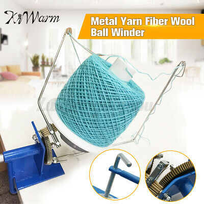 Large Metal Winder Machine Hand Needlecraft Yarn Fiber Wool String Ball Knitting • 23.98£