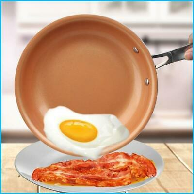$24.99 • Buy 8/10/12 Inch Non-stick Skillet Copper Frying Pan With Ceramic Coating Induction