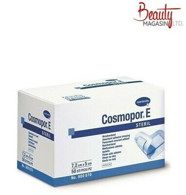 £8.29 • Buy Cosmopor E Sterile First Aid Absorbent Adhesive Wound Dressing 7.2 X 5 Cm X 50
