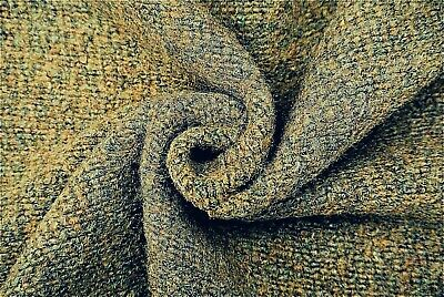 £7.50 • Buy Honey& Grey Earthy Tone Ribbed Boiled Wool Cashmere Blend Knit Made In Italy A37