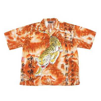 £27.99 • Buy 90s Vintage Chinese Tiger Shirt | XL | Retro Graphic Y2k Dragon Party Festival