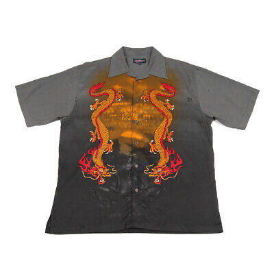 £22.39 • Buy 90s Vintage Chinese Dragon Shirt | XL | Retro Graphic Y2k Festival Party