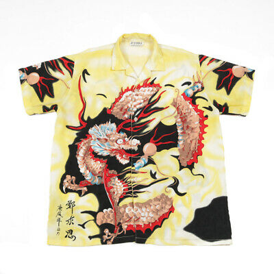 £23.99 • Buy 90s Vintage Chinese Dragon Shirt | XS | Retro Graphic Y2k Festival Party
