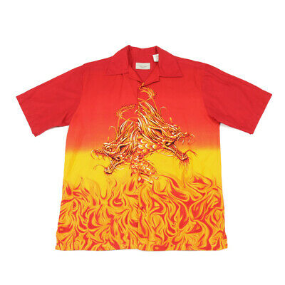 £25.59 • Buy Vintage Chinese Dragon Flame Shirt | Small | Retro Graphic Y2k Festival  90s