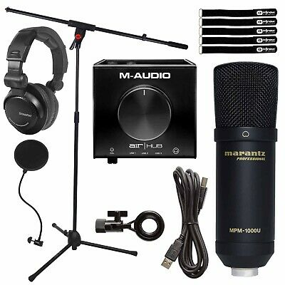 $190.40 • Buy Home Audio Podcast Vocal USB Condenser Microphone W Audio Recording Interface