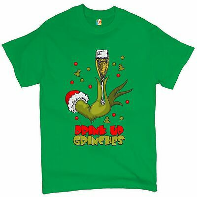 £11.32 • Buy Drink Up Grinches T-shirt Funny Christmas Drinking Men's Tee