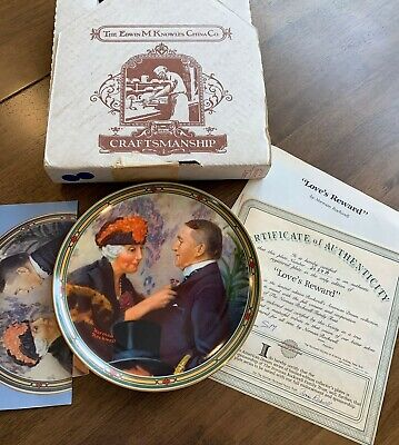 $ CDN34.27 • Buy Edwin M Knowles China Co Norman Rockwell Collector Plate  Love's Reward