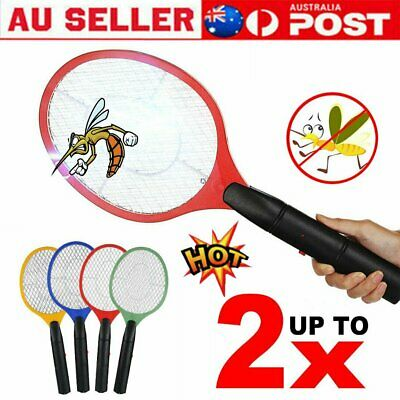 AU11.90 • Buy Electric Bug Zapper Tennis Racket Mosquito Fly Swatter Insect Killer Battery %N