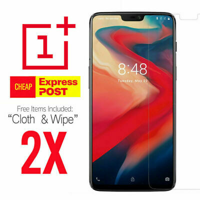 AU4.95 • Buy 2X Tempered Glass Screen Protector Cover Guard Film For OnePlus 5 6 6T