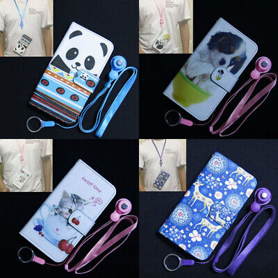 AU9.62 • Buy Sika Deer Panda Little Dog Cat Wallet Flip Case Cover For Iphone OPPO Lenovo