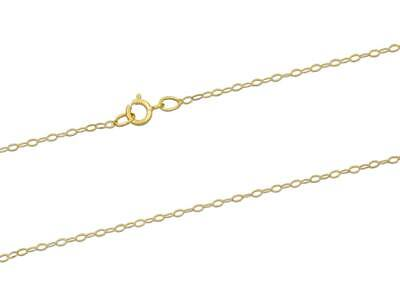 9ct Gold Trace Chain Necklace (1.2mm / 20 Inches / 0.50g) • 35.99£