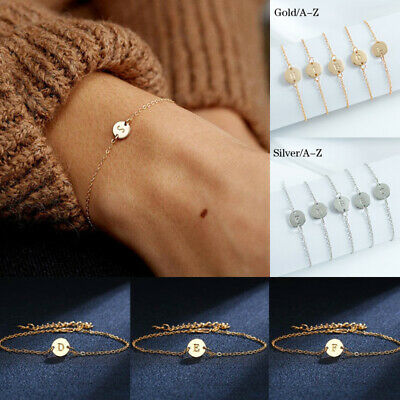 £2.15 • Buy 26 Letter Alphabet A~Z Initial Knot Bracelet Bridesmaid Open Cuff Bangle Jewelry
