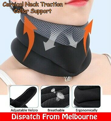AU29.99 • Buy Cervical Traction Neck Collar Support Brace Neck Pain Relief Guard Travel Pillow