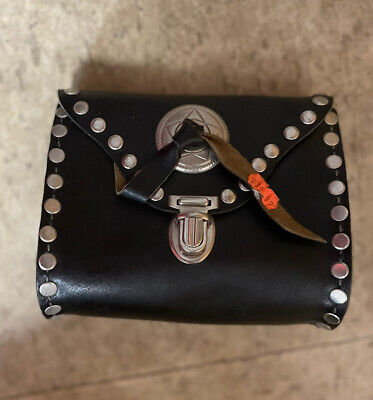 AU193.52 • Buy Rare Vintage Harley Davidson Studded Leather Backpack Biker Bag Purse 70s 80s