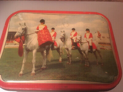 Trooping Of The Colour ? Empty Sweet Biscuit Tin Horse • 5.75£