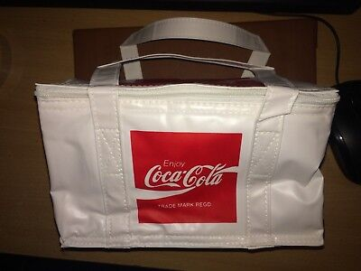 £10 • Buy New Coca Cola Coke RARE WHITE RED Lunch Bag Cooler Cool 6 PACK Classic Vintage