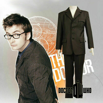 New! 10th Doctor Doctor Who David Tennant Brown Suit Uniform Cosplay Costume Set • 48£