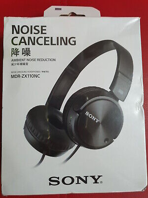 AU42.50 • Buy Sony MDR-ZX110NC Noise Cancelling Headphones MDRZX110NC, Black
