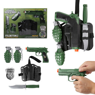 $23.70 • Buy Military Force Combat Role Toy Gun Play Set Kids Toy For Children Christmas Gift