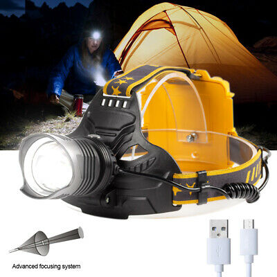 AU35.99 • Buy XHP70.2 Zoom Headlamp Headlight Flashlight LED Rechargeable Head Torch AU