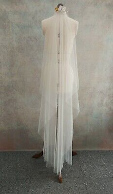 £56 • Buy Wedding Veil With Hairpiece*1 Tier Veil * *pearl And Crystal Hair Piece*