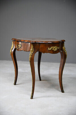 Antique French Inlaid Walnut Marquetry Occasional Side Hall Centre Table • 685£