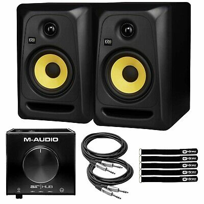 $399.60 • Buy KRK CL5G3 5  Powered Monitor Speakers W M-Audio AIR Hub USB Interface & Cables