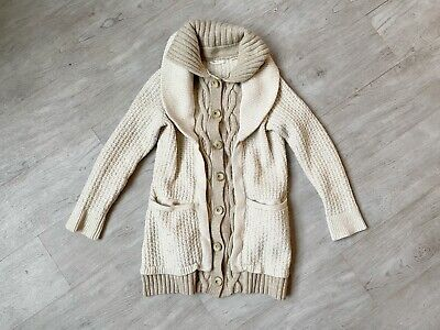 $ CDN50.94 • Buy Anthropologie Sleeping On Snow Double Layer Knit Cardigan Sweater! Size L!