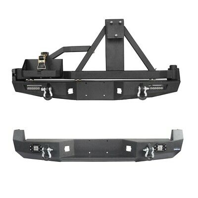 $445.79 • Buy Fit 05-15 Tacoma Pickup Textured Steel Rear Bumper Bar W/ Led Light & D-ring