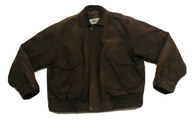 VINTAGE Indiana Jones Brown 100% Leather Jacket Mens XL Official Replica VTG WOW • 144.99£